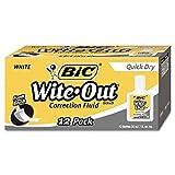 BIC - Wite-Out Quick Dry Correction Fluid, 20 ml Bottle, White, 1/Dozen WOFQD12WE (DMi DZ
