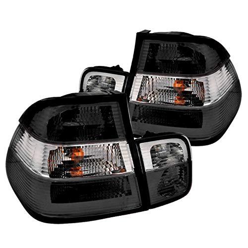 Spec-D Tuning LT-E464GPW-APC BMW E46 3-Series 4Dr Sedan Smoke Clear Rear Tail Lights Pair 00 4dr Tail Lights