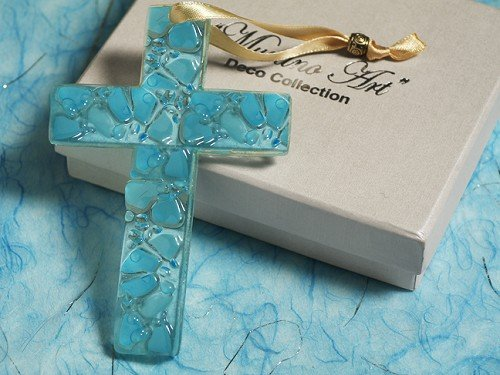 Murano Art Deco Collection Glass Cross C5020 Quantity of 1
