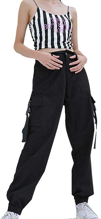 Hx Fashion Pantalones Cargo Para Pantalones Mujer Pantalones Casuales Deportivos Militares Tamanos Comodos Pantalones Cargo Hippie Streetwear Moda 2019 Ropa De Mujer Amazon Es Ropa Y Accesorios