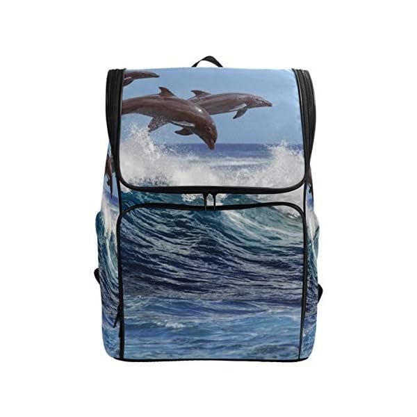 DXG1 - Zaino per donne e uomini, ragazzi, balene oceaniche, borsa alla moda, borsa da viaggio, università, casual, per… 1 spesavip
