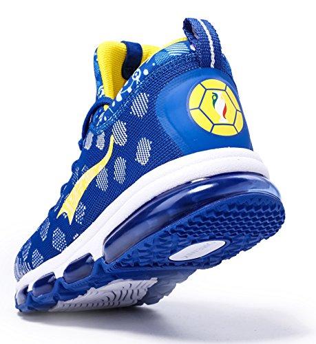 onemix Sportschuhe Laufschuhe Air Casual Sport Fitnessschuhe Trainers Schuhe Running Indoor Herren Damen Blau