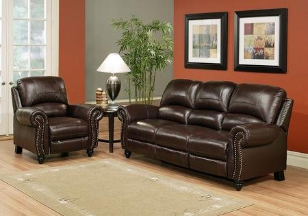 abbyson living cambridge ch 8857 brg 31 2 piece living room set with leather - Swivel Recliner Chairs For Living Room 2