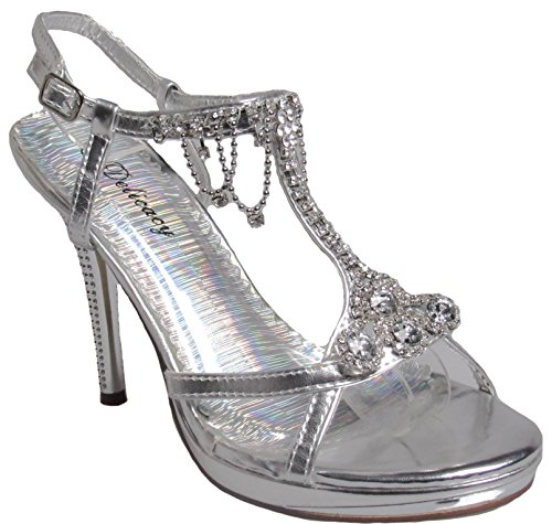 Womens Silver 42 Delicacy party shoe Marvelous R0nwd