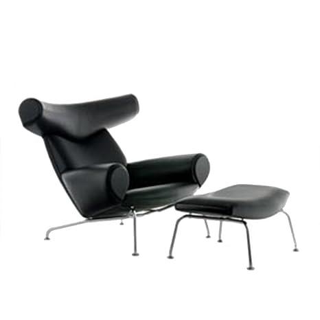 Peachy Amazon Com Tribeca Modern Hansen Ox Chair And Ottoman Pdpeps Interior Chair Design Pdpepsorg