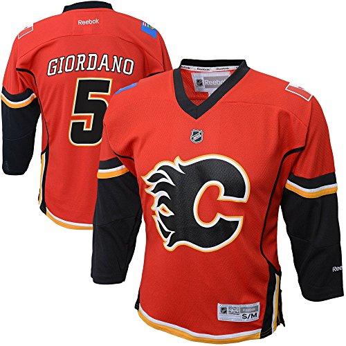 meet d39e8 4a863 OuterStuff Mark Giordano Calgary Flames Youth Red Replica ...