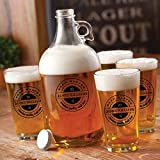 Personalized Printed Growler Set - Brew Master