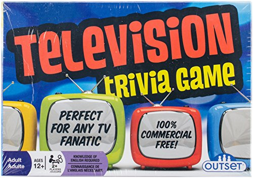 Television Trivia Game - Features 220 Cards with Over 800 Fun Questions - Perfect For Any TV Fanatic - Ages  12+