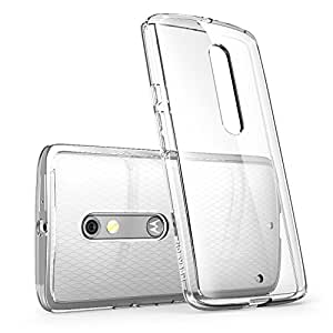 Verizon Droid Maxx 2 Case, i-Blason [Scratch Resistant] Halo Series Hybrid Clear Case / Cover with TPU Bumper for Motorola Moto Droid Maxx 2 / X Play 2015 Release (Clear (Scratch Resistant))