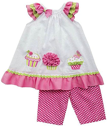 Rare Editions Baby-girls Cupcake Dress and Capri Set (6-9 Months)