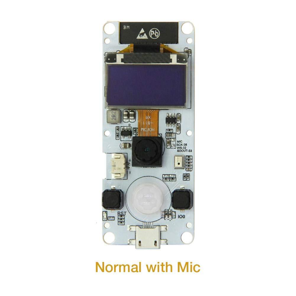Lamptti Camera Module for T-Camera ESP32 WROVER PSRAM ESP32-WROVER-B OV2640 0.96 Inches OLED PIR Grove Port Mini Camera Board with Microphone
