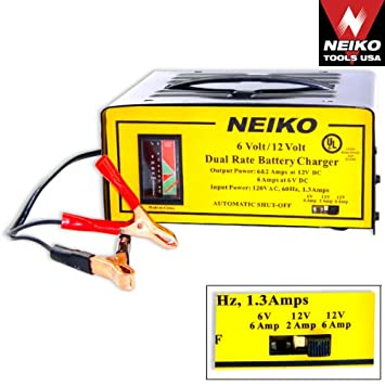 Amazon.com: 6 Volt 12 V Cargador de batería 6 V y 12 V ...