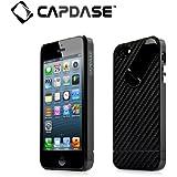 CAPDASE 日本正規品 iPhoneSE / 5s / 5 Snap Jacket Graphite with Screen Protector, Black/Black (スタンド機能&クリスタル・クリアー液晶保護シート つき) スナップジャケット グラファイト ハード ジャケット, ブラック/ブラック AJIH5-1G11
