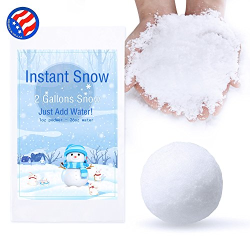 Bigib Make 2 Gallons Fake Instant Snow Powder for Slime Supplies Cloud Slime Charms (Sodium Polyacrylate Powder)