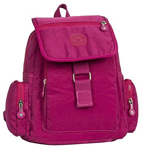 Tissu Dos Shop Big 5 Rose Imperméable Handbag Unisexe Sac À Style Fuschia En wAIf0q