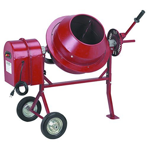 1/4 HP Electric Cement Mixer 1.25 Cubic Ft; 35 RPM by Import/Generic