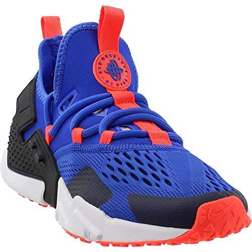 Nike Mens Huarache Drift Fabric Low Top Lace Up Running Sneaker, Blue, Size 9.5