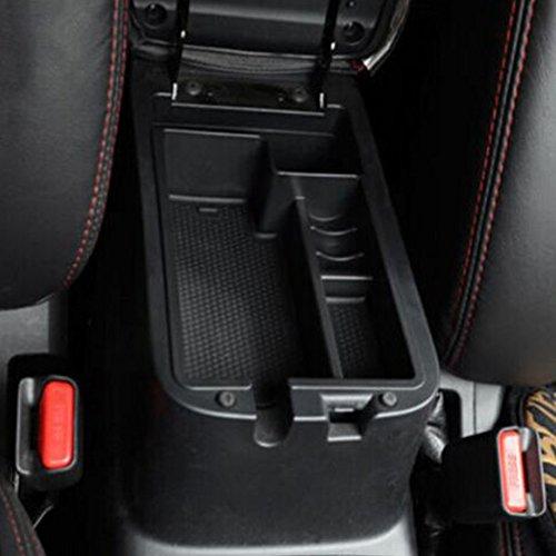 Black Car Armrest Secondary Storage Center Console Organizer Box w. Non-slip Rubber Pallet for 2010-2015 Mitsubishi Outlander Sport/RVR/ASX (Mitsubishi Sport Accessories compare prices)