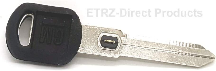 GM 596779 Vats Double Sided Ignition Key Blank w//GM Logo and Vats Resistor Chip #9 09. Oldsmobile /& Pontiac Vehicles Buick Strattec V.A.T.S No