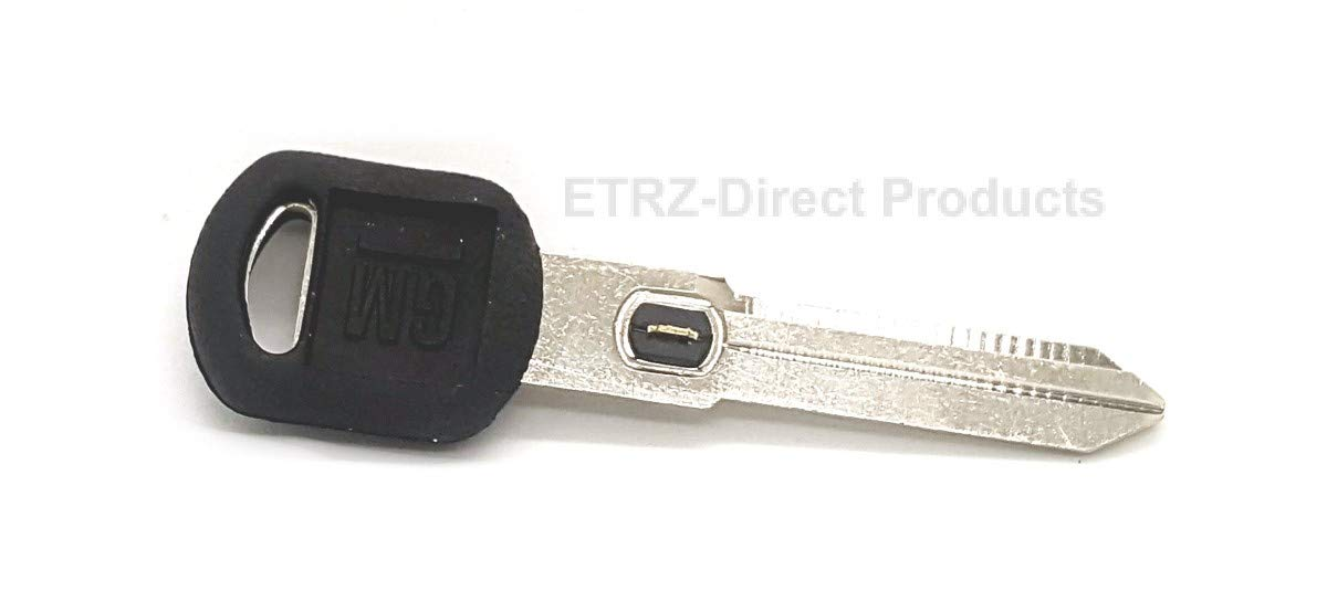 GM 596772 OEM Double Sided Ignition Key Blank w//GM Logo and Vats Resistor Chip #2 Oldsmobile /& Pontiac Vehicles 2. Strattec V.A.T.S No Buick