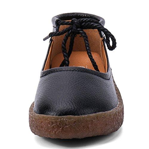 Pelle In Memory Classiche Slip Mocassini Piatta Foam Da Aleader Imbottitura Donna On Black905 Scarpe vIxtUWw