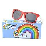 CGID Rubber Flexible Kids Polarized Sunglasses Glasses for Children Age 3-10,K25