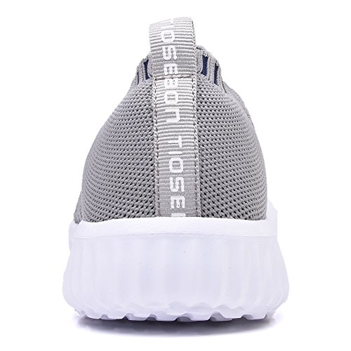 TIOSEBON Women's Breathable Running Sneakers Mesh Gray Athletic Shoes 6701 Casual Walking Shoes Light RRdrwp