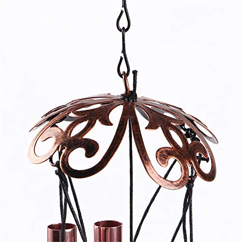 WEISIPU Windwings 3D Butterfly Wind Chimes - Outdoor Metal Windchime Garden Chimes Home Garden Decoration (Pink)