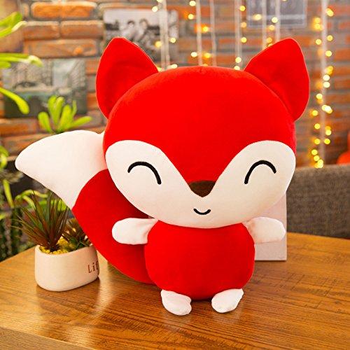 PvxgIo Juguete de la Primera Infancia Cute Cartoon Version Q Fox Plush Toy Doll Animal Doll Birthday Gift (Rojo)