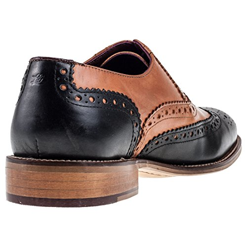 Black richelieu Brogues Uomo London Pelle Gatsby Tan Mocassino ORAT0qwzB