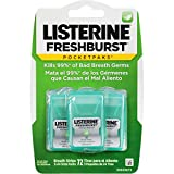 Listerine Freshburst Pocketpaks Breath Strips, Kills Bad Breath Germs, Portable Pack, 24-Strip Pack, 3 Pack