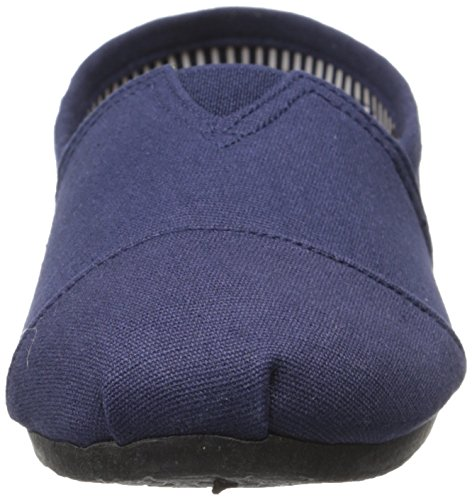 Dawgs Dames Kaymann Canvas Instappers Loafer Gestreepte Hak In Marine Blauw