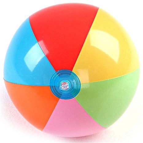 WYFDM Bola Inflable de Seis Colores Bola de la Raqueta de la Playa ...