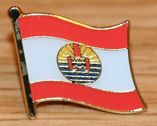 Tahiti French Polynesia Flag Metal Badge -
