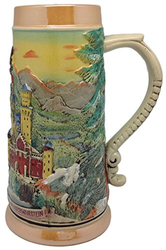 - Scenic Germany Ludwig's Castle Collectible Engraved Beer Stein