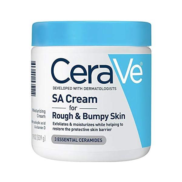 Cerave SA Cream | 19 oz | Renewing Salicylic Acid Body Cream for Rough & Bumpy Skin | Fragrance Free