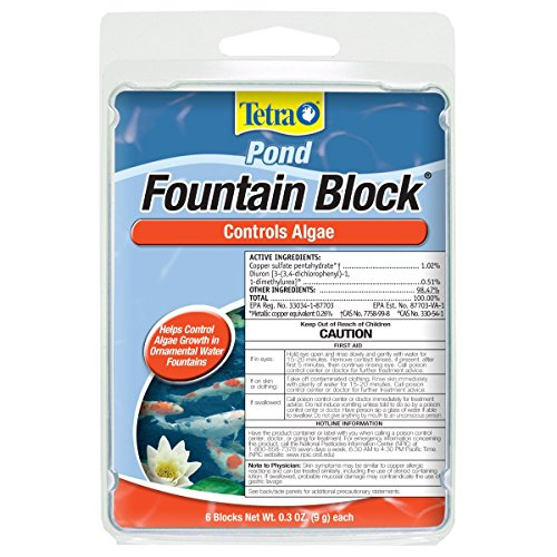 TetraPond Anti-Algae Control Blocks for Fountains, 6-Count