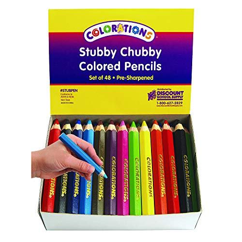 Colorations STUBPEN Stubby Chubby Colored Pencils 8 (Pack of - Pencil Chubby Colored