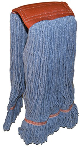 Nine Forty Industrial Strength Premium Looped End Wet Mop Head Refill – 4 Ply Synthetic Yarn (1, Large)