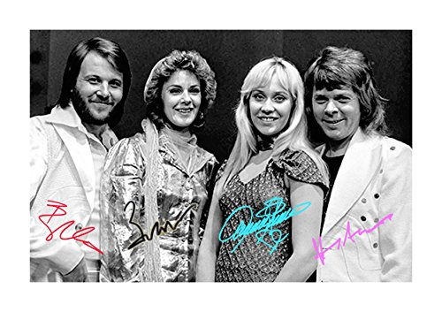 Engravia Digital ABBA (2) Poster Signed Autograph Reproduction for sale  Delivered anywhere in USA