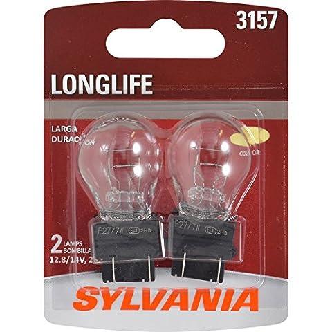 SYLVANIA 3157 Long Life Miniature Bulb, (Contains 2 Bulbs) (2002 Ford Focus Brake Light)