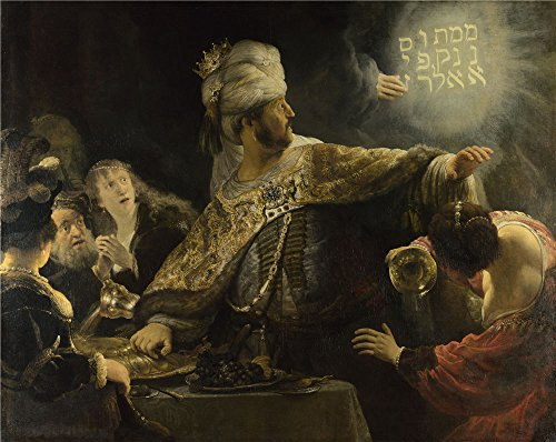 High Quality Polyster Canvas ,the High Quality Art Decorative Prints On Canvas Of Oil Painting 'Rembrandt Belshazzar's Feast ', 16 X 20 Inch / 41 X 51 Cm Is Best For Hallway Artwork And Home Decor And Gifts