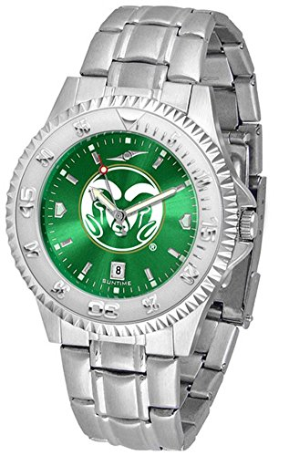 (Colorado State Rams Men's Stainless Steel Dress Watch)