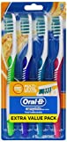 oral b advantage - Oral-B Complete Deep Clean Soft Bristles Toothbrush, 4 Count, Colors May Vary