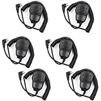 TENQ® Rainproof 2-pin Shoulder Remote Speaker Mic Microphone PTT for Motorola Radio Pmr446 Pr400 Mag One Bpr40 A8 Ep450 Au1200 Etc(6 Pack)