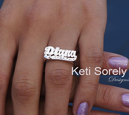 Personalized Name Ring With Heart -