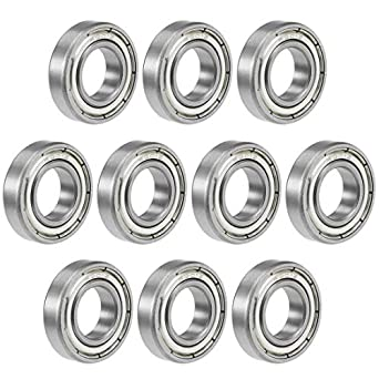 5 x 6901ZZ Carbon Steel Metal Shielded Deep Groove Ball Bearings 12x24x6mm