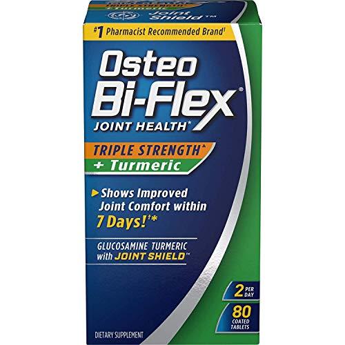 - Osteo Bi-Flex Triple Strength + Turmeric, 80 Coated Tablets (Pack of 2)