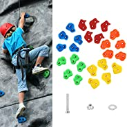 MoKo Rock Climbing Holds for Kids, 25 Pack Children Rock Climbing Holds for Backyard Outdoor Indoor Home Playg