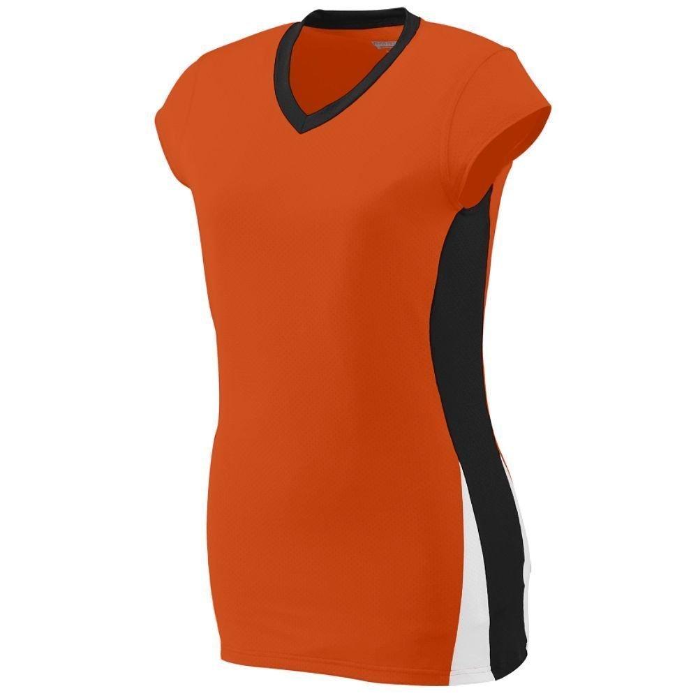 Augusta Sportswearレディースヒットジャージー B00HJTOXTY XX-Large|オレンジ/ブラック/ホワイト オレンジ/ブラック/ホワイト XX-Large